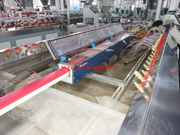 plastic  profile extrusion process