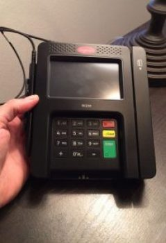 overlay card skimmer installed