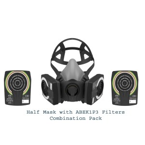 HM 1400 Half Mask Combination Pack with ABEK1P3 Filters