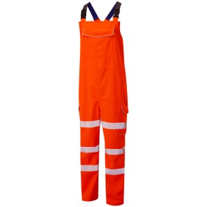 Class 2 EcoViz 10K Breathable Bib & Brace Orange