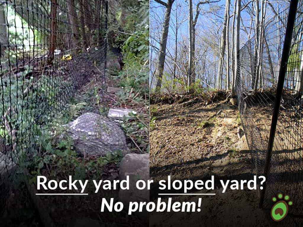 rocky or sloped yard?