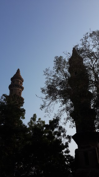 Twin towers(minars) near the station