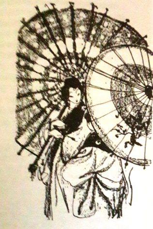 जपानी राष्ट्रीय वेश किमोनोमध्ये गेशा