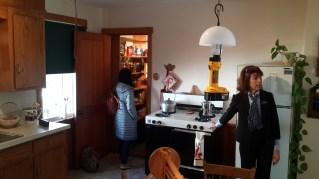 Kitchen inside Amish house