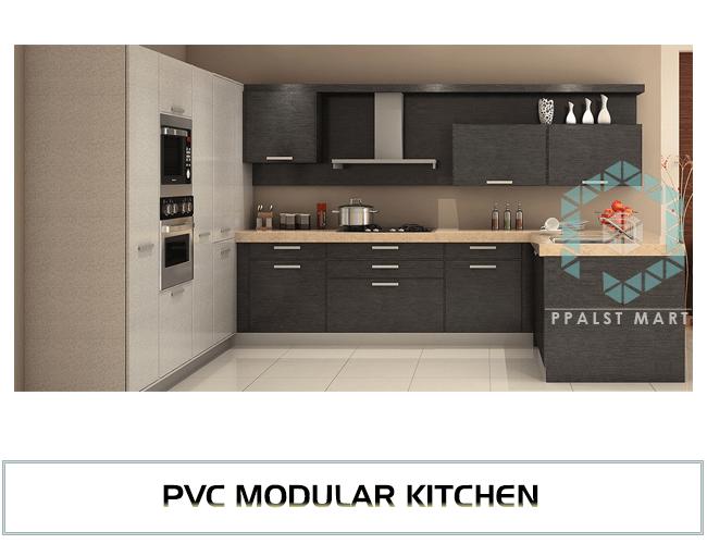 Modular Kitchen PVC Modular Kitchen Dealers