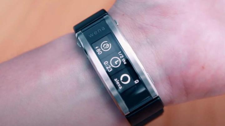 Sony Wena relógio smartwatch smartband