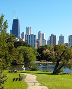 Chicago Apartments, Lake Shore Drive Aerial View, Lakefront Park