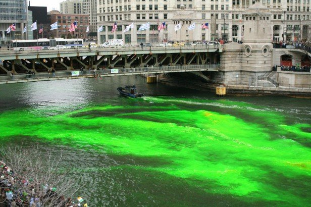 Chicago Apartments, St. Patrick's Day, Dyeing Chicago River