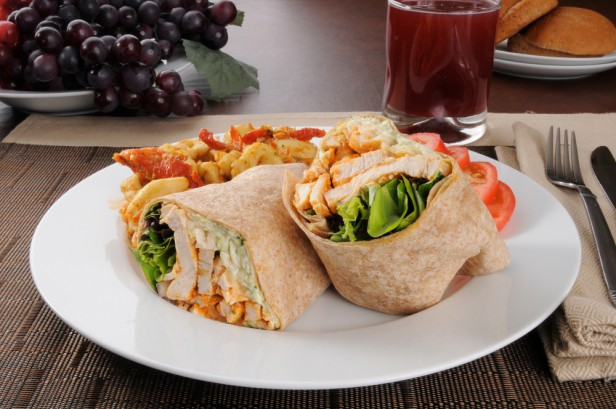 Chicago Apartments, ROCKS in Lakeview, Buffalo Chicken Wrap