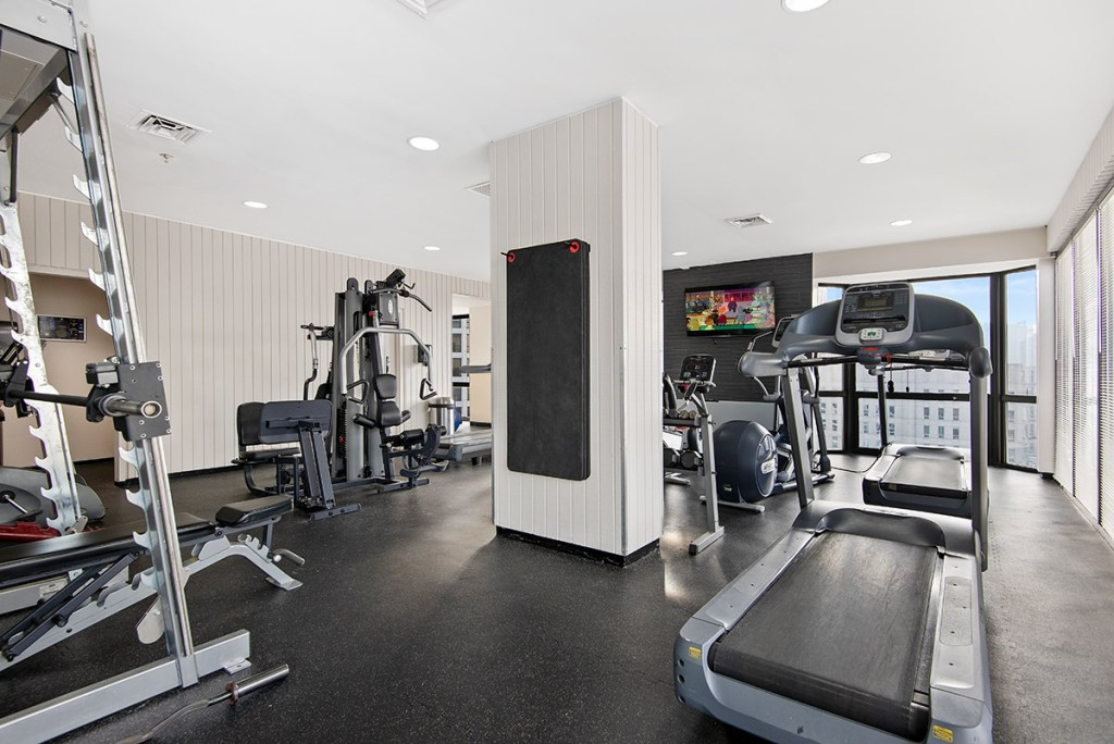 1111 N Dearborn Fitness Center Interior Chicago Apartments Gold Coast - 1