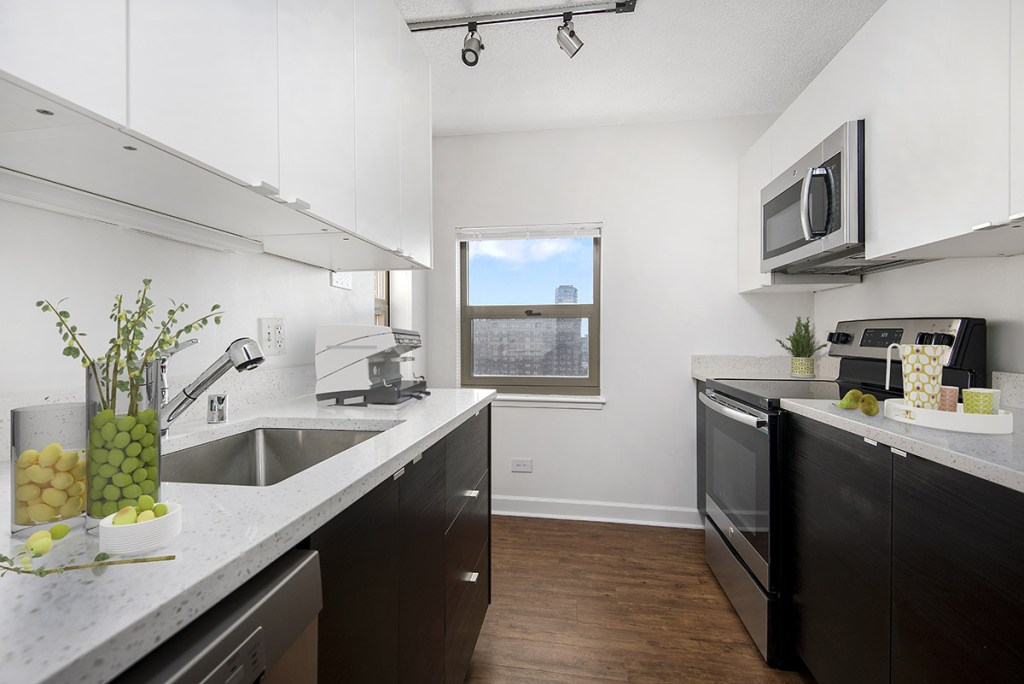 100 W Chestnut Kitchen Interior Chicago Apartments River North - 1