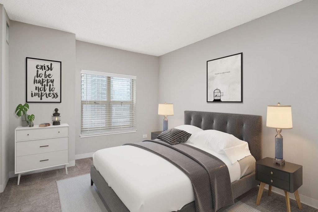 100 W Chestnut Bedroom Interior Chicago Apartments River North - 2