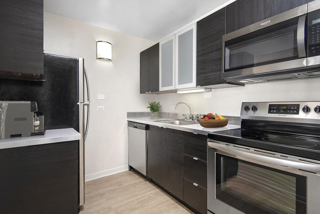 55 W Chestnut Kitchen Interior Chicago Apartments River North - 3