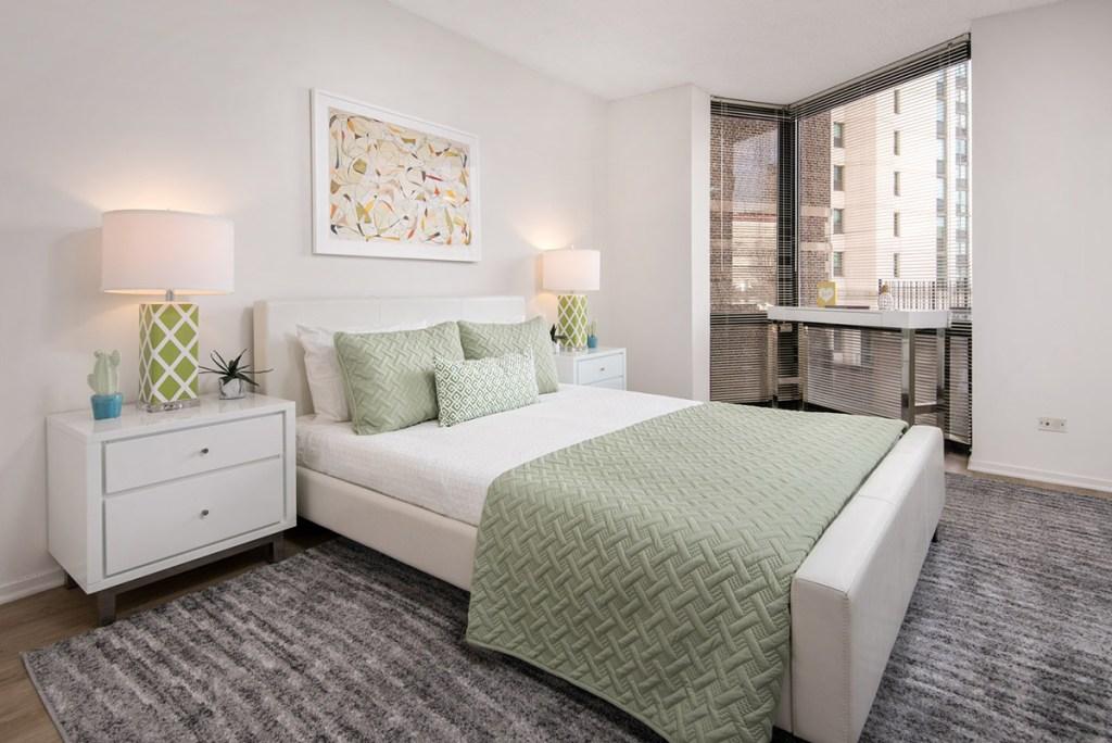 1120 N LaSalle Bedroom Interior Chicago Apartments Gold Coast - 1
