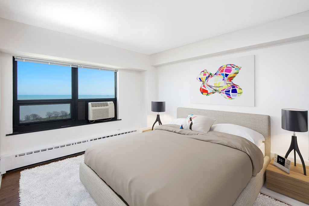 Chicago Apartments, Lakeview, 3130 N Lake Shore Bedroom