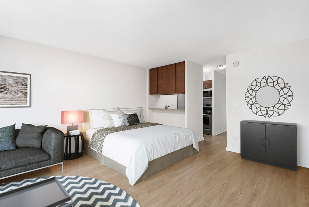 20 E Scott Studio Bedroom Interior Chicago Apartments Gold Coast - 1