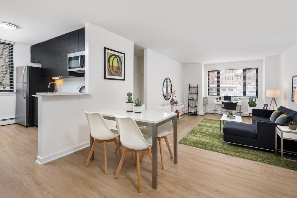 20 E Scott Dining and Living Room Interior Chicago Apartments Gold Coast - 1