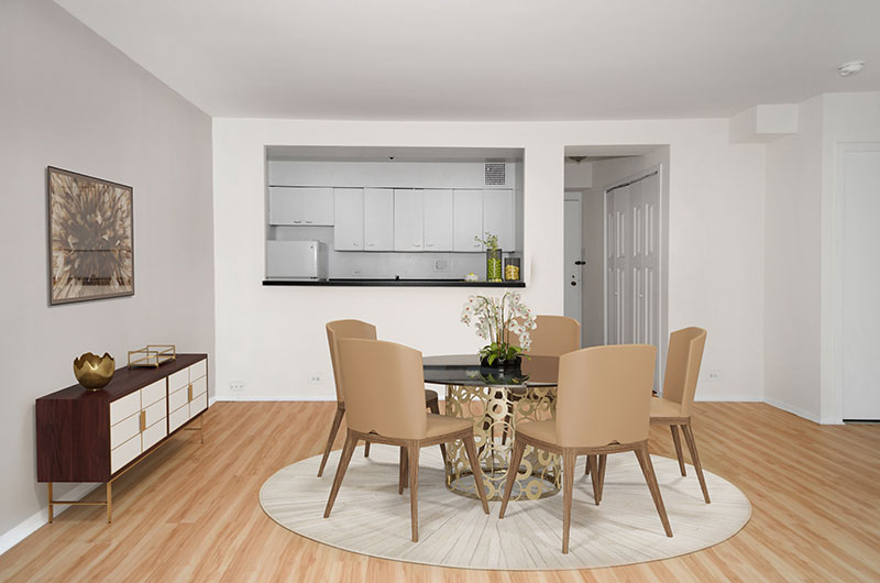 Chicago Apartments, Lakeview, 350 W Oakdale Dining Room