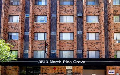 Chicago Apartments, Lakeview, 3510 N Pine Grove Entrance
