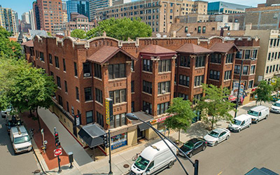 Chicago Apartments, Lincoln Park, 430 W Diversey, 446 W Diversey Exterior
