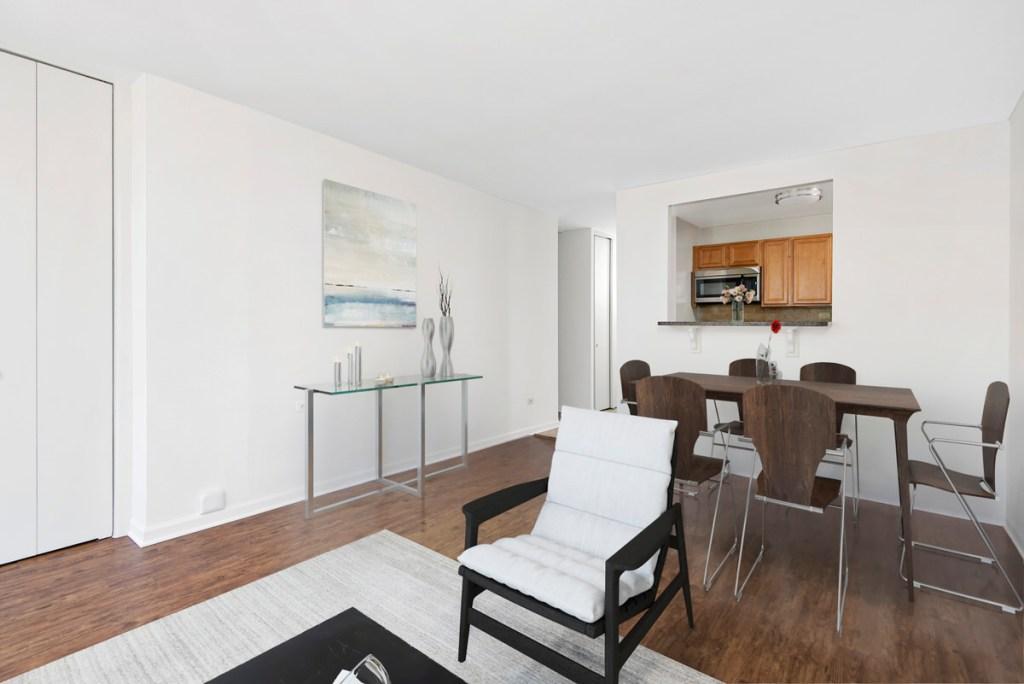 55 W Chestnut Chicago Apartment Interior Living Room 2