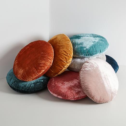 Chicago Apartments, West Elm, Round Lush Velvet Pillow Covers