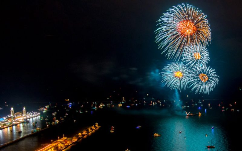 Chicago Apartments, River North, 4th of July Fireworks, Navy Pier