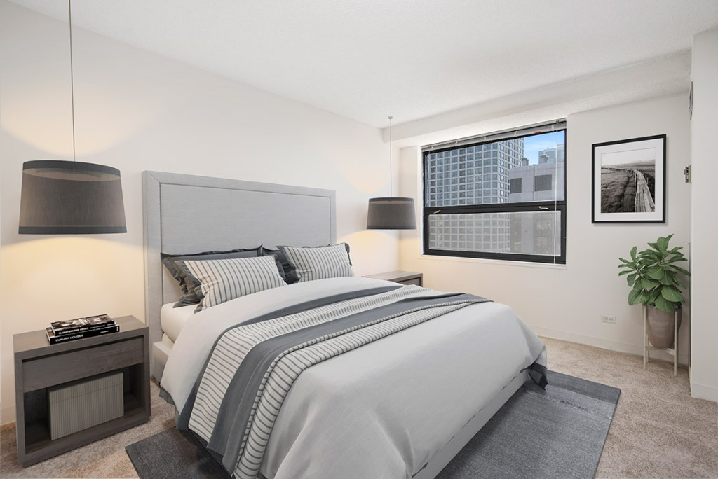 1133 N Dearborn Bedroom Interior Chicago Apartments Gold Coast - 1