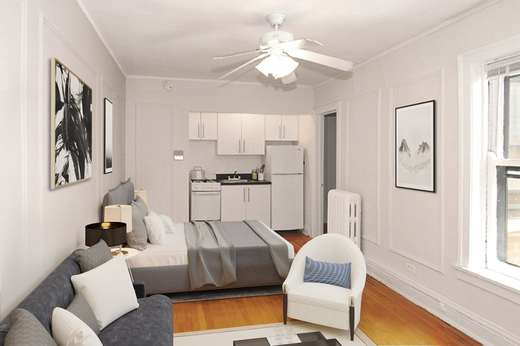 Chicago Apartments, Lakeview, 596 W Hawthorne Studio