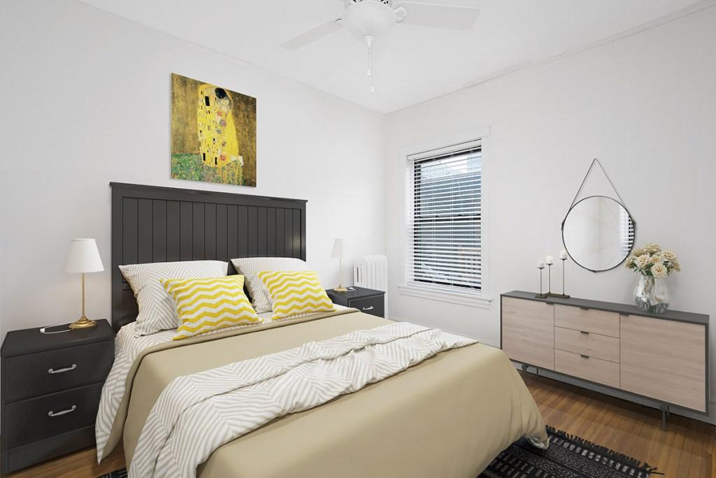 Chicago Apartments, Lakeview, 634 W Cornelia Bedroom