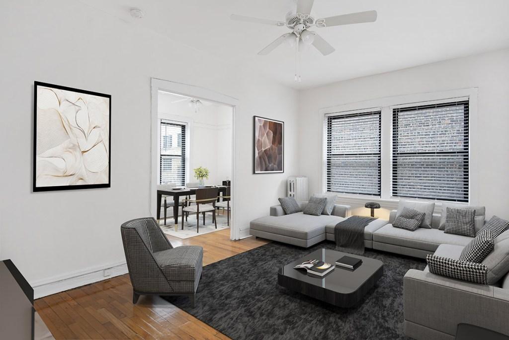 Chicago Apartments, Lakeview, 640 W Cornelia Living Room