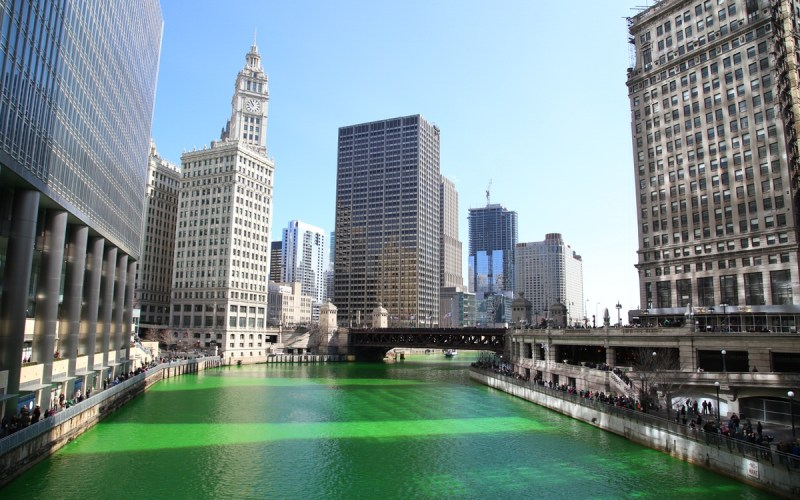 Chicago Apartments, River North, St. Patrick's Day
