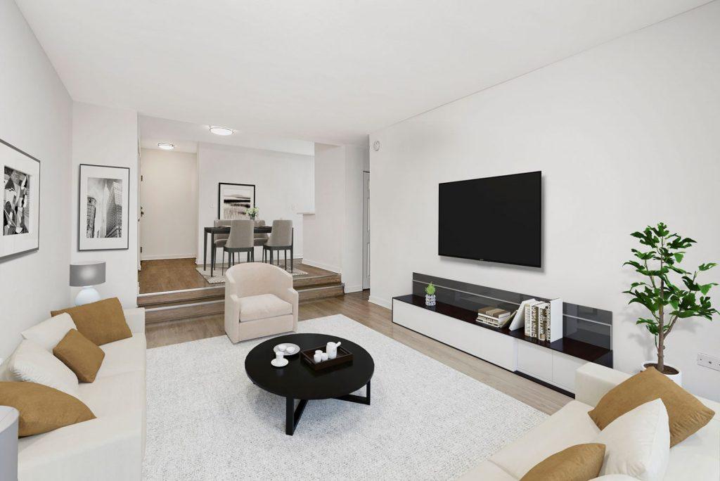 20 E Scott Living Room Interior Chicago Apartments Gold Coast - 1
