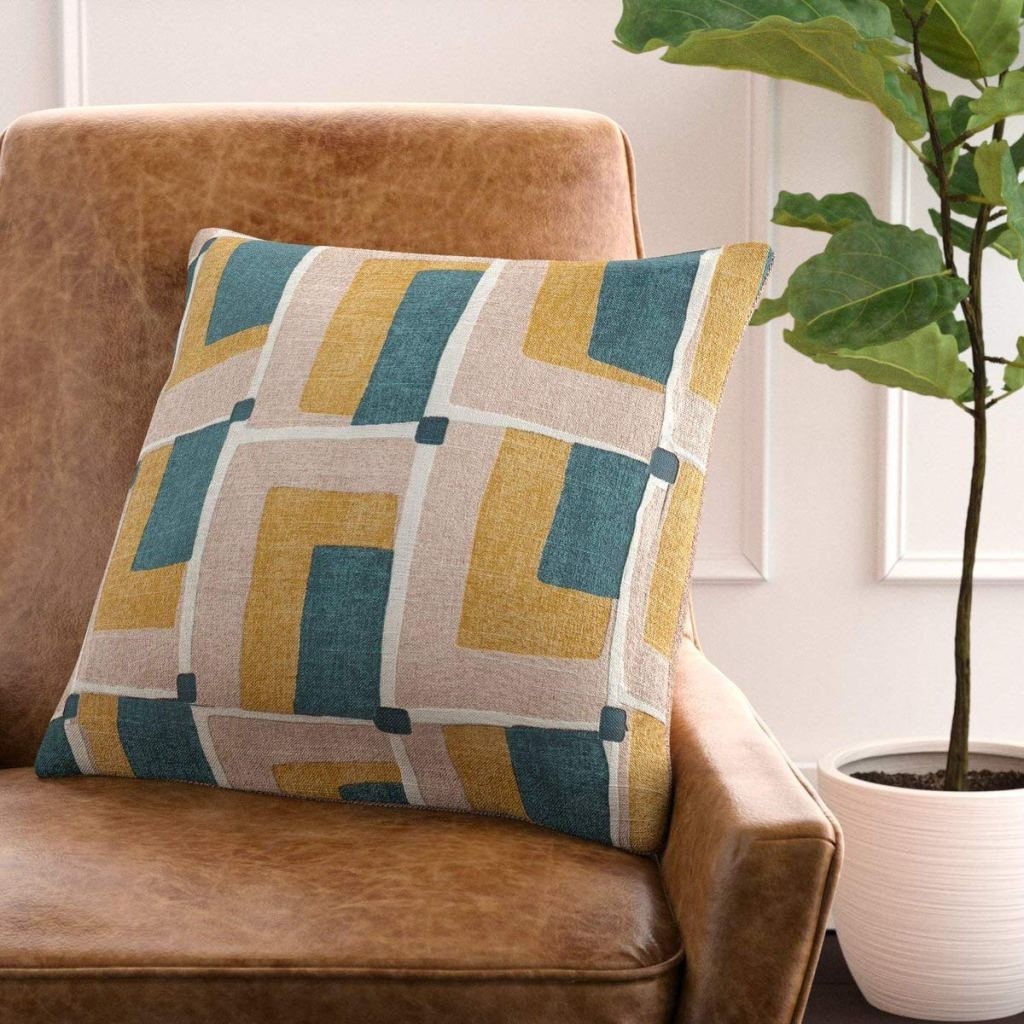 Chicago Apartments, Amazon Home Rivet Line, Geo Print Pillow
