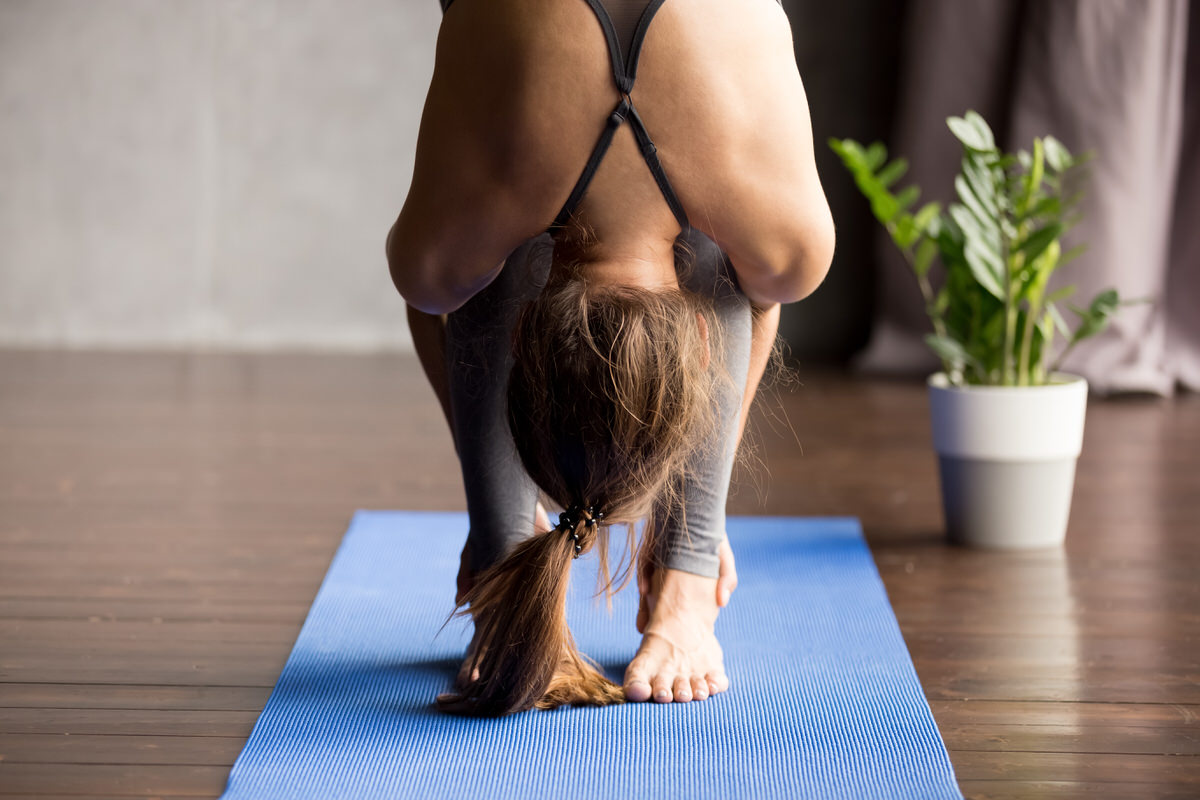Chicago Apartments, Stress Relief, Forward Fold Pose
