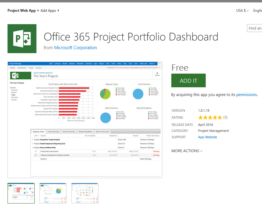 NEW RELEASE] Office365 Project Portfolio Dashboard - Microsoft PPM ...