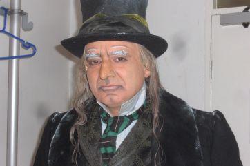 As Scrooge in A Christmas Carol