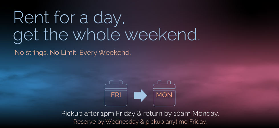 Full Weekend for 1 day price.