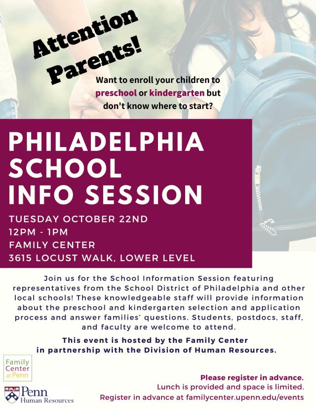 Philadelphia School Information Session