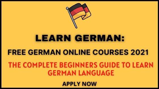 Free German Online Courses 2021