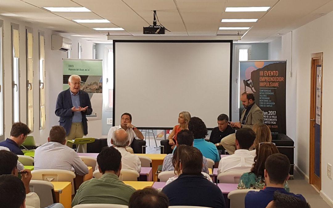 El PP de Sevilla mantiene un encuentro con emprendedores en la Aceleradora de Empresas Impúlsame de Mairena del Alcor