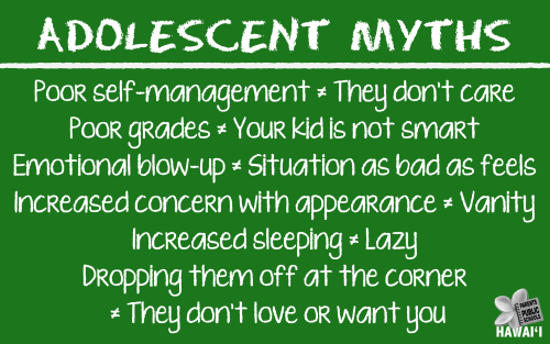 Adolescence Myths