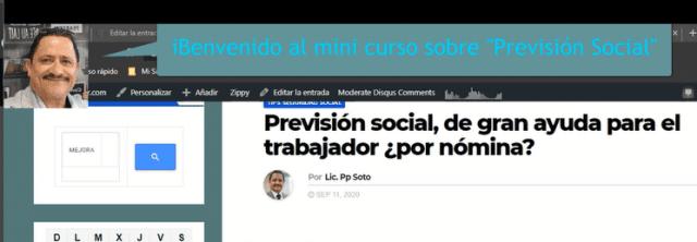 1.3 Curso *gratis Previsión social