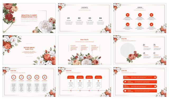 Beautiful Flower Free Google Slides Theme Powerpoint