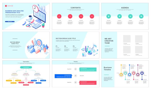 Business Data Analysis Free Google Slides Theme And