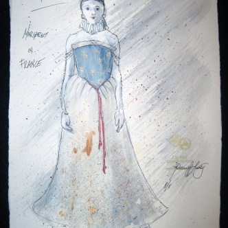 Margaret - Henry VI (combined) - Costume Sketch by Rebecca Lustig