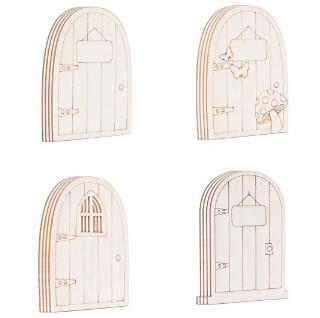 Puerta del ratoncito pérez o hada de los dientes 4 modelos para pintar manualidades