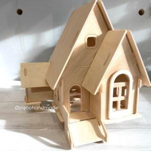 casa de madera para montar y pintar