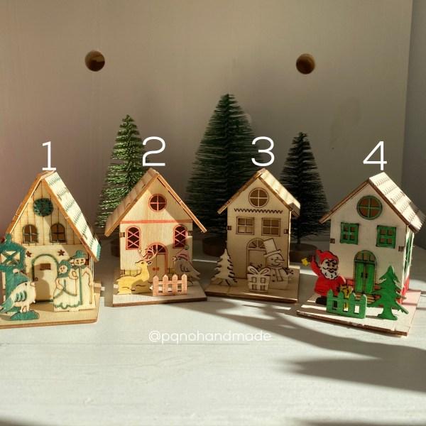 casitas de madera para pintar 4 modelos