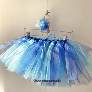 falda tul azul claro azul oscuro